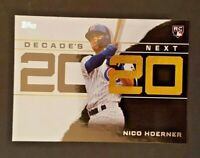 2020 Topps Decade's Next #DN-22 Nico Hoerner RC - Chicago Cubs