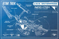 Star Trek Enterprise NCC170 Blueprint TV Show Poster 36x24 inch Poster - 24x36