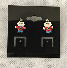 Toy Soldier Holiday Pierced Earrings New Gift