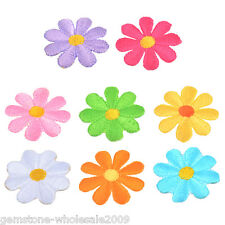 5Pcs Flowers Embroidered Patches For Clothes Sewing Diy Craft 3.7cm Garments