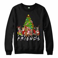Friends Christmas Dog Spoof Xmas Jujmper, Santa Hat Xmas Gift Festive Jumper Top
