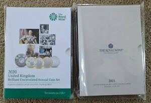 2020 And 2021 UK Annual BU Coin Sets Sealed