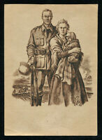 WW2 WWII Germany 3rd Reich Postcard German Army Patriotic Soldier Feldpost 1940