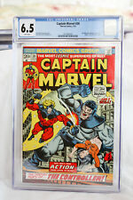 CAPTAIN MARVEL #30 CGC 6.5 WHITE PAGES! (1968) THANOS.DRAX   STARLIN