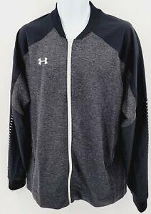 NEW MENS Under Armour UA Coldgear Full Zip Knit Warm-Up Jacket 1327203-001 SZ XL