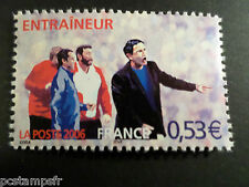 FRANCE 2006, timbre 3908, SPORT, FOOTBALL, L ENTRAINEUR, neuf**, MNH STAMP