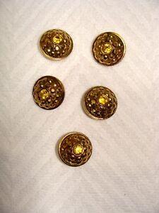 J70 16mm 26L Golden marrón color ámbar Naranja Pulido 4 Agujero Chaqueta Craft Botones