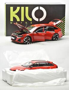Kilo Works KengFai 1/18 Audi RS6 C8 Wagon Metal Diecast Model Car Gifts Hobby