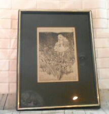 Marie Elise Gray Spring Meadow Etching 4 /12 Washington State Artist
