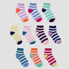 New! 10 Pack Girls' Casual Ankle Socks Medium - Cat & Jack™