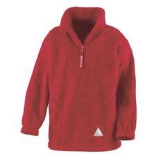 Abbigliamento rossi casual in pile per bambini dai 2 ai 16 anni