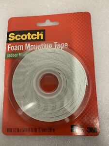 3M SCOTCH FOAM INDOOR MOUNTING DOUBLE SIDED TAPE