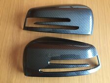 CARBON WING MIRROR COVERS MERCEDES BENZ A B C E S CLS CLASS W204 W212 W176 W246
