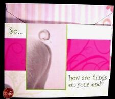 Pig Butt Rear End Tail Cute Little Piglet -- How are Things Greeting Card -- NEW