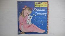 RARE Golden Record BRAHMS' LULLABY 45 RPM 1957