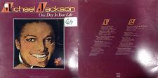 DISCO 33 GIRI -  MICHAEL JACKSON- ONE DAY IN YOUR LIFE                     (B)