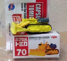 Capsule Tomica ConstructIon 70 Komatsu Bulldozer 2006 series 12 Yujin mini