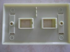 25 -2 Port Keystone Faceplate White w/Windows RJ45 Face Plate USA SELLER!