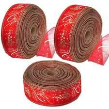 3 Rolls Hot Christmas Mixed Ribbon Assorted Colors High Quality Gift Cake