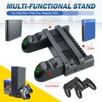 PS4 Slim/Pro Vertical Stand Cooling Dual Controller Charger/USB Charging