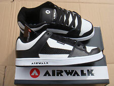 brand NEW BLACK/WHITE AIRWALK ROCK LOW SKATE trainers UK size 12