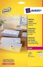 Avery  Laser Jam Free White Address 21 Labels Per Sheet 40 In Box L7160