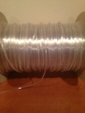 """Sold by 10 FT lengths :  1/16""""ID x 1/8""""OD x 1/32"""" wall Clear Flexible Tubing"""