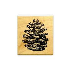 PINE CONE Small mounted rubber stamp #19