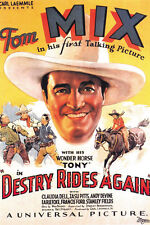 Destry Rides Again (1932) Tom Mix classic western movie poster print
