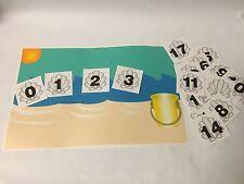 Beach Math Mat & Seashell Number Cards 0-20 -Laminated Set