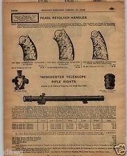 1913 PAPER AD Winchester Telescope Rifle Sight Scope Pearl Revolver Handles