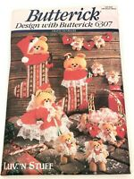 Butterick Crafts Sewing Pattern 6307 Luv 'N StuffTeddies Nursery Diaper Stacker