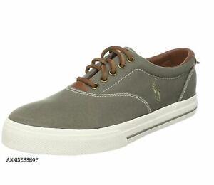 Polo Ralph Lauren Men Vaughn Size 8 Flat Casual Deck Shoe Sage Green sneaker New