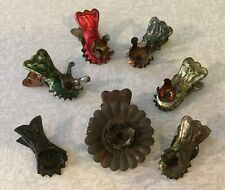 Lot of 7 Antique Metal Christmas Tree Candle Clips