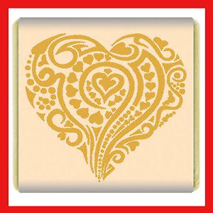 1500 Heart swirl pattern Neapolitan Milk Chocolate Favours Individual Foil gold