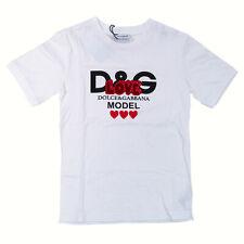 Dolce & Gabbana Mädchen T-Shirt (6 Jahre), Love Model, weiß, Made in Italy