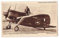 WW2 Buffalo 1 Single Seat Fighter Plane Postcard, Unused