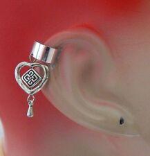 Celtic Knot Heart Charm Drop/Dangle Ear Cuff Handmade Jewelry Silver Fashion NEW