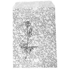 500 Silver Rose Merchandise Retail Paper Jewelry Favor Gift Bags 4 X 6 Tall