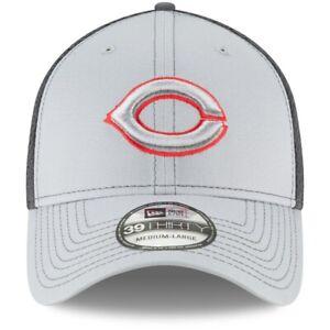 Cincinnati Reds MLB New Era Grayed Out Stretch Fit Men's Hat Small/Medium