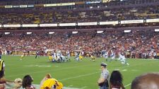 2 LOWER ROW 1 Seats for Houston Texans at WASHINGTON REDSKINS 10/14 Tickets