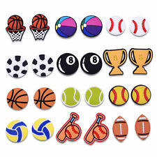 US Stock 24PCS Sports PVC Shoe Charms Accessories fit for Shoes for Boys Gifts
