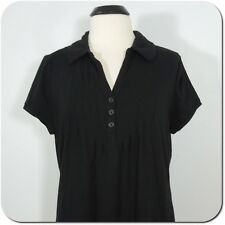 DKNY JEANS Women's Black Casual Shirt, Short Sleeves size L