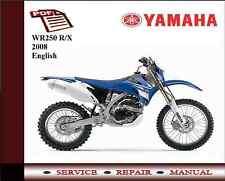 Yamaha Wr250 Wr 250 R/x 2008 Servicio de Taller reparación Manual + diagrama de cableado