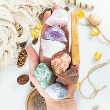 Natural Raw Healing Crystals With Palo Santo Sticks - Chakra Stones
