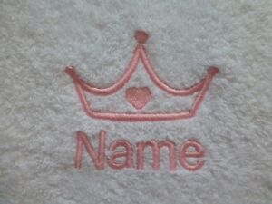 PRINCESS CROWN design Embroidered on a Adult Robe with Personalised Name