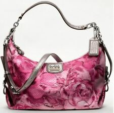 NWT Coach Madison Floral Graphic Print Fabric Hailey Convertible Hobo 19644 Pink