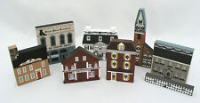 (8) THE CAT'S MEOW VILLAGE PIECES - NEW ENGLAND CHRISTMAS SERIES & OTHERS - NICE