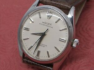 ROLEX OYSTER PERPETUAL REF. 6565 ALL STAINLESS STEEL CAL 1030 BUTTERFLY MOVEMENT