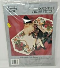 Something Special Instruments (Holiday) Table Runner Counted Cross Stitch Kit...